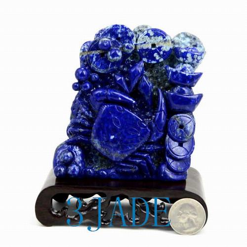 Lapis Lazuli Crab Statue