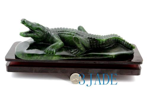 jade crocodile sculpture