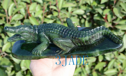 green jade crocodile