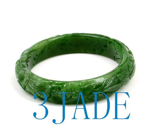 60mm green jade bangle