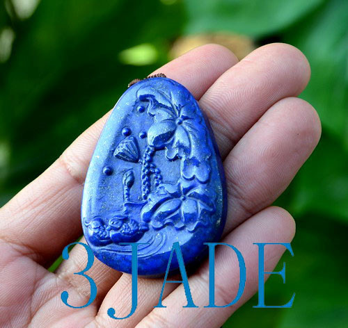 Lapis Lazuli Lovebirds Pendand