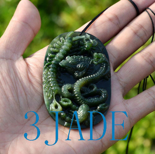 Green Jade Five Poisonous Creatures Pendant