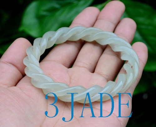 62mm twisted ropes shape jade bangle