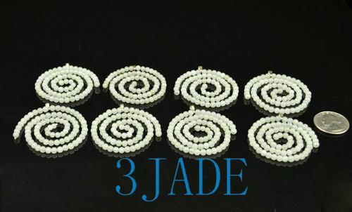Jade Beaded Spiral