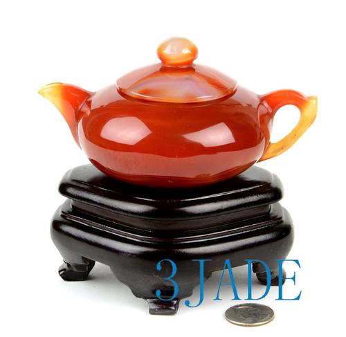 Red Agate / Carnelian Teapot