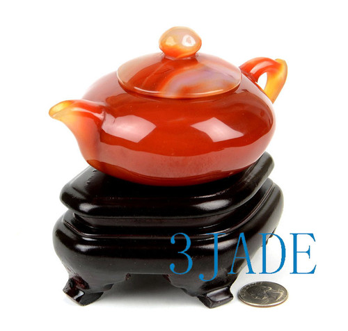 Red Agate  Teapot