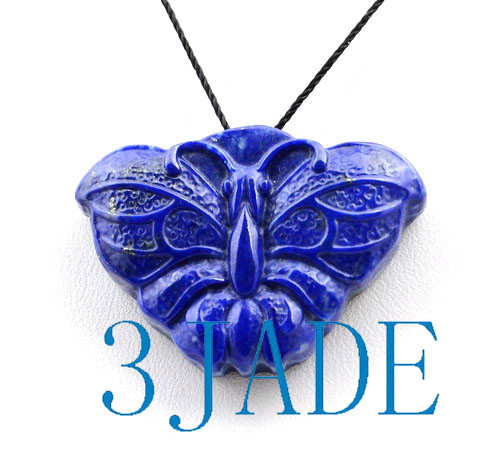 Lapis Lazuli  Butterfly Pendant