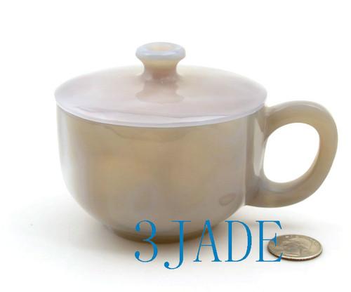 Hand Carved Natural  Agate Coffee Mug