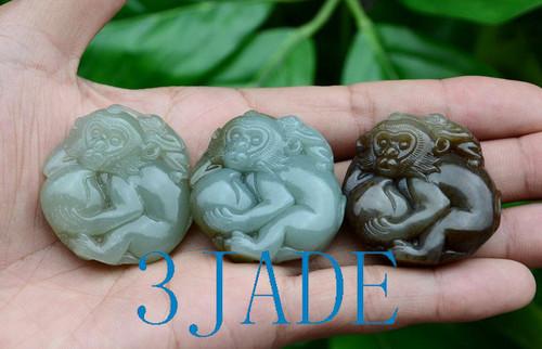 Nephrite Jade Monkey Pendant Wholesale