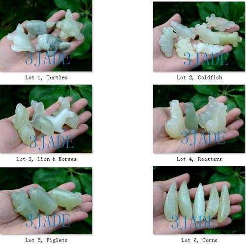 hand carved serpentine figurines