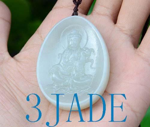 Hetian Jade Kwan-yin Pendant