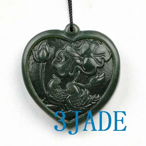 Jade Mandarin Duck  Pendant