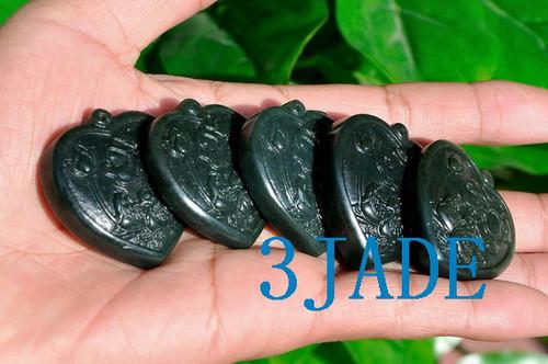 Jade Mandarin Ducks Necklace