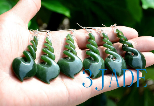 jade twist earrings