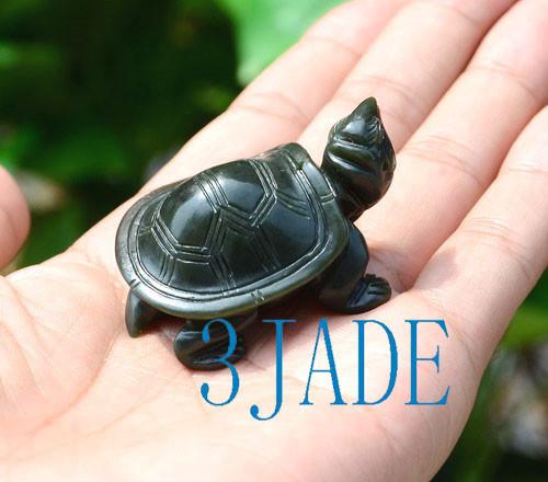 Nephrite Jade Turtle Figurine