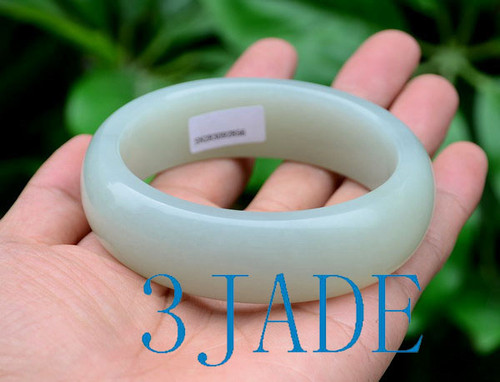 65mm White Jade Bangle