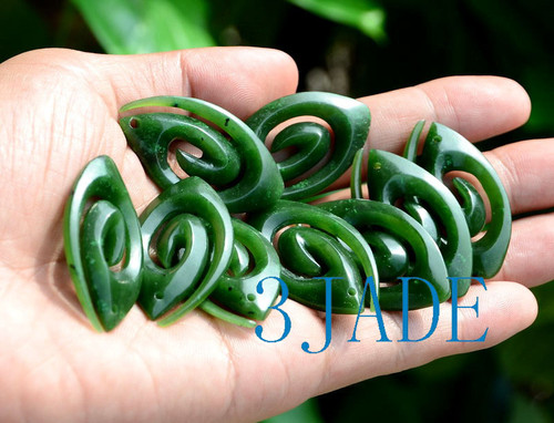 Green Jade Koru Pendant Wholesale