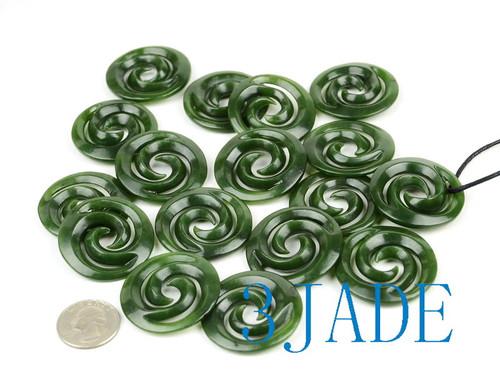 Green Jade Koru Pendant Wholesale