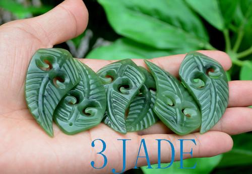 NZ Jade Fern Leaf Pendant