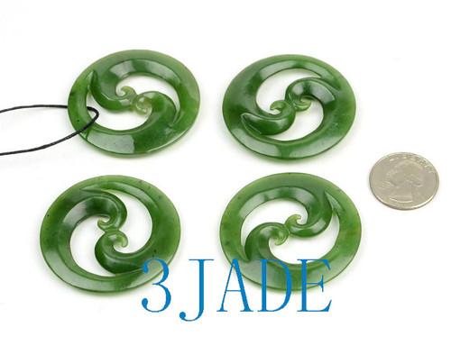 Greenstone Double Koru Necklace