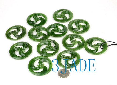 Jade Triple Koru Pendants Wholesale