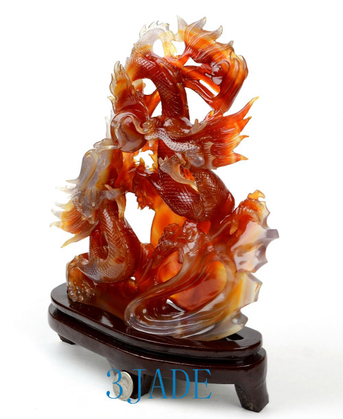 Carnelian Dragon Sculpture