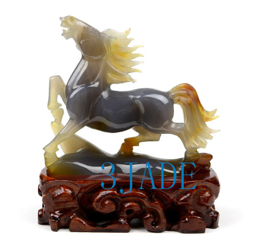 Natural Agate Horse Statue