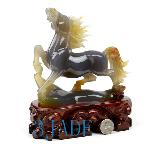 Natural Carnelian Horse Statue