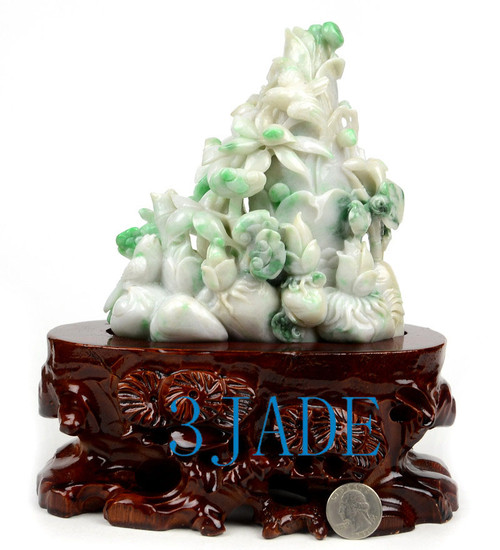 Jadeite Jade Bamboo Shoots Statue Sculpture