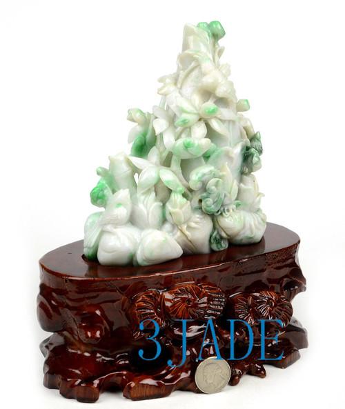 Jadeite Jade Bamboo Shoots Statue
