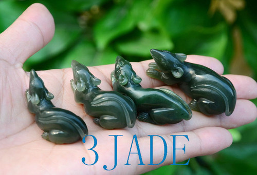 Hand Carved Jade Mouse