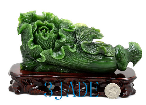 Green Jade Cabbage Sculpture