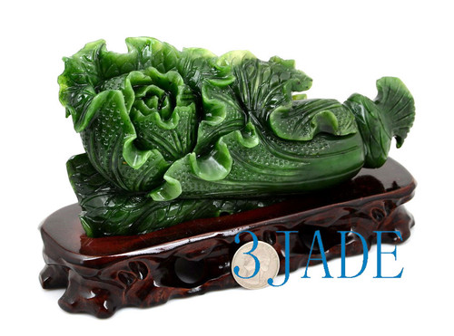Green Jade Cabbage Carving