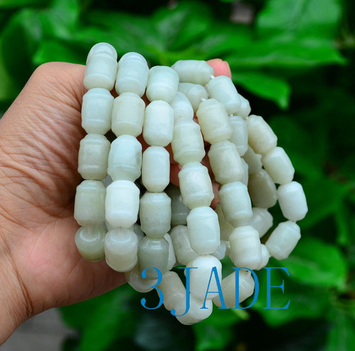 Jade Barrel Beads Bracelet