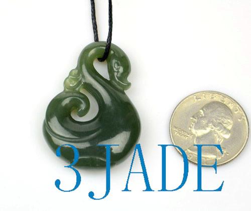 Jade Manaia Koru Pendant
