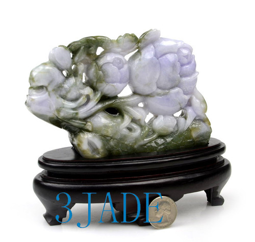 A Grade Jadeite Jade WITHERED TREE REVIVE Sculpture