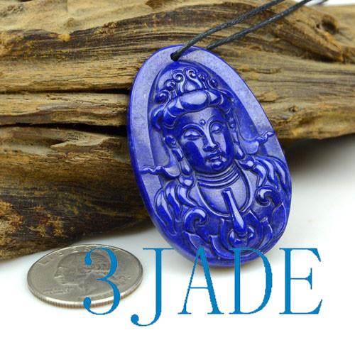 Lapis Lazuli Guanyin Bodhisattva Pendant