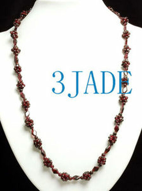 Garnet Beads Necklace