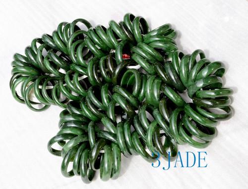 Green nephrite jade bangles wholesale
