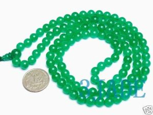 Green prayer beads