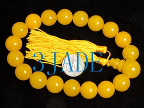 Yellow prayer beads