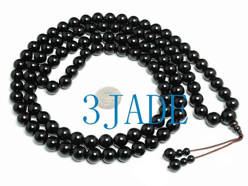 black prayer beads