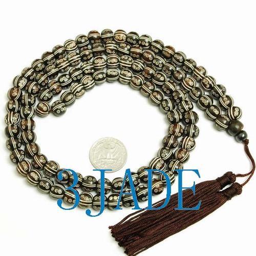 bone carved beads