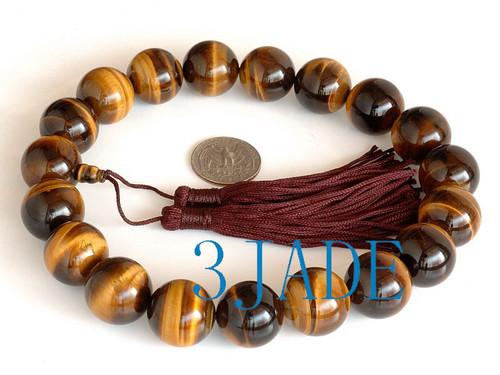 natural tiger's beads