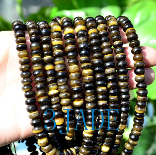 "21"" Bovine Horn 108 Prayer Beads Meditation Mantra Buddhist Mala"