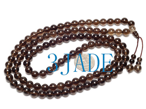 smoky prayer beads