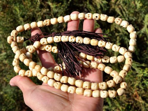 ox bone skull beads