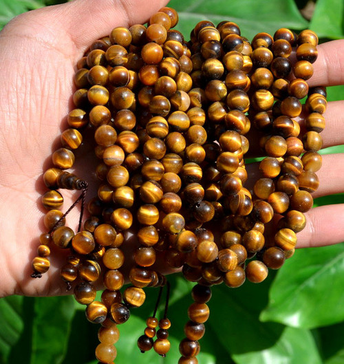 tiger's eye rosary beads