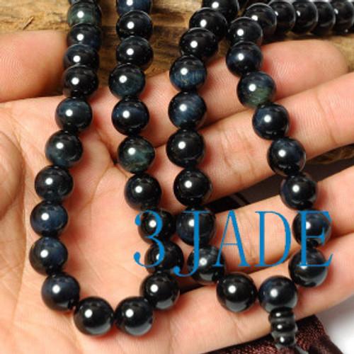 Tiger's eye prayer beads