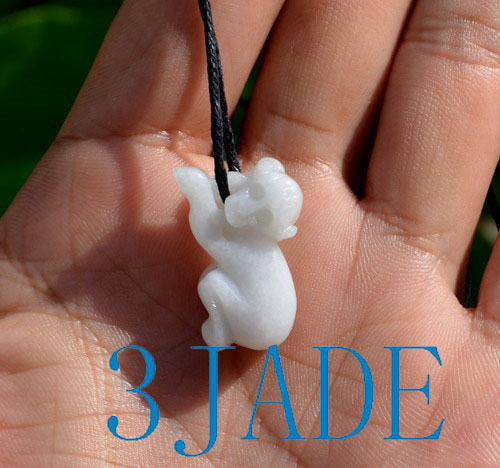 jade monkey pendant